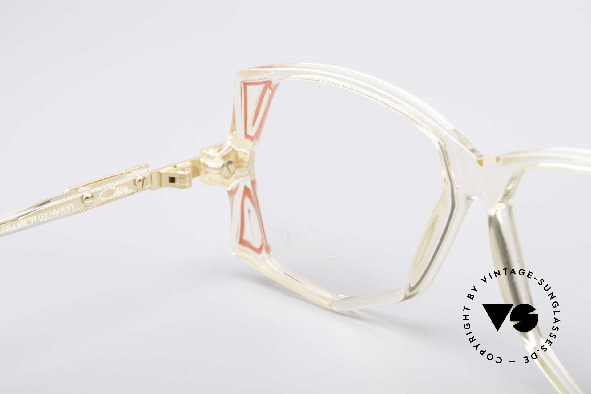 Cazal 172 Kristallklare 80er Brille, Fassung (KLEINE Gr. 55-12) ist beliebig verglasbar, Passend für Damen