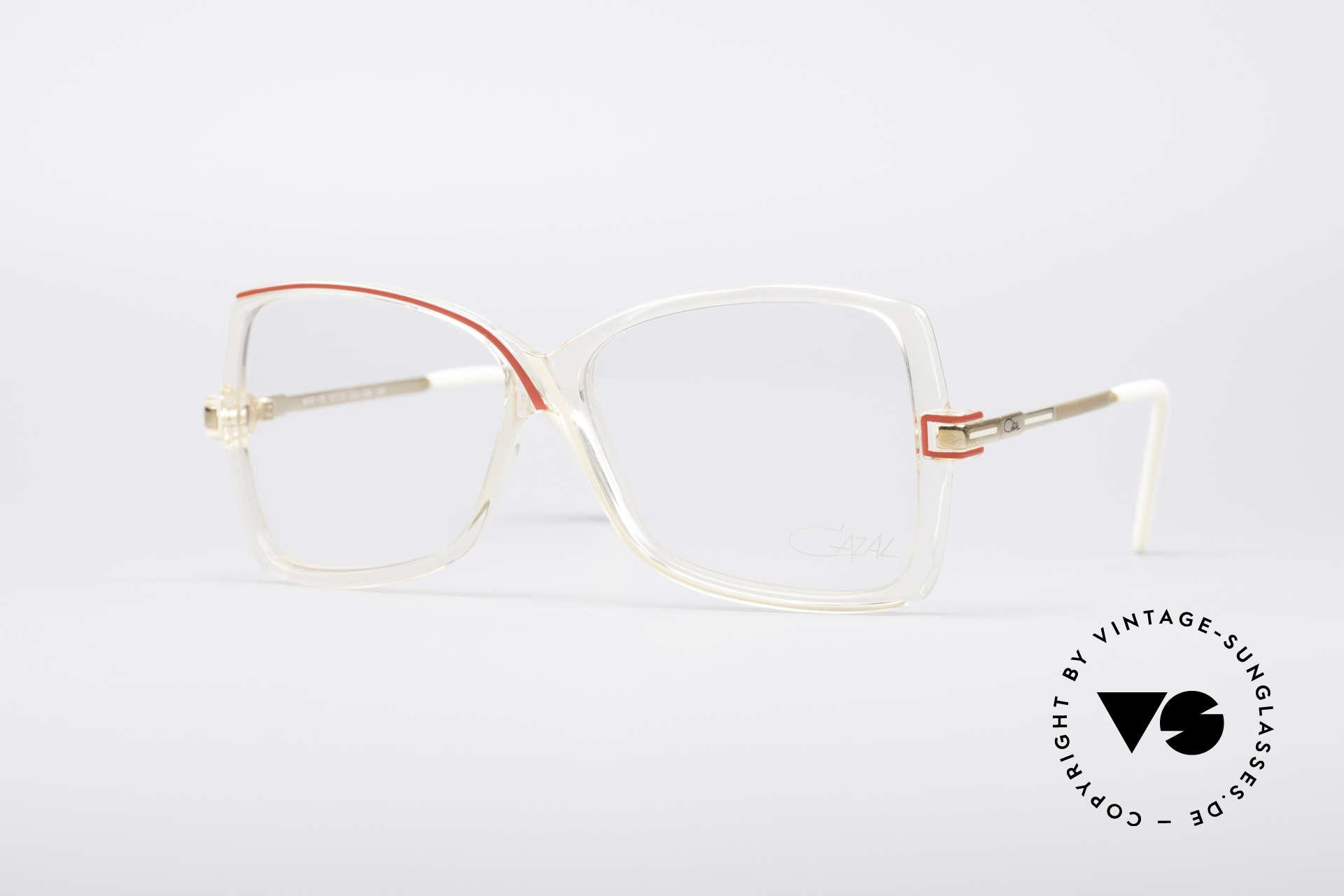 Cazal 175 Echt 80er Vintage Brille, echte vintage Brille von CAZAL aus den 1980ern, Passend für Damen