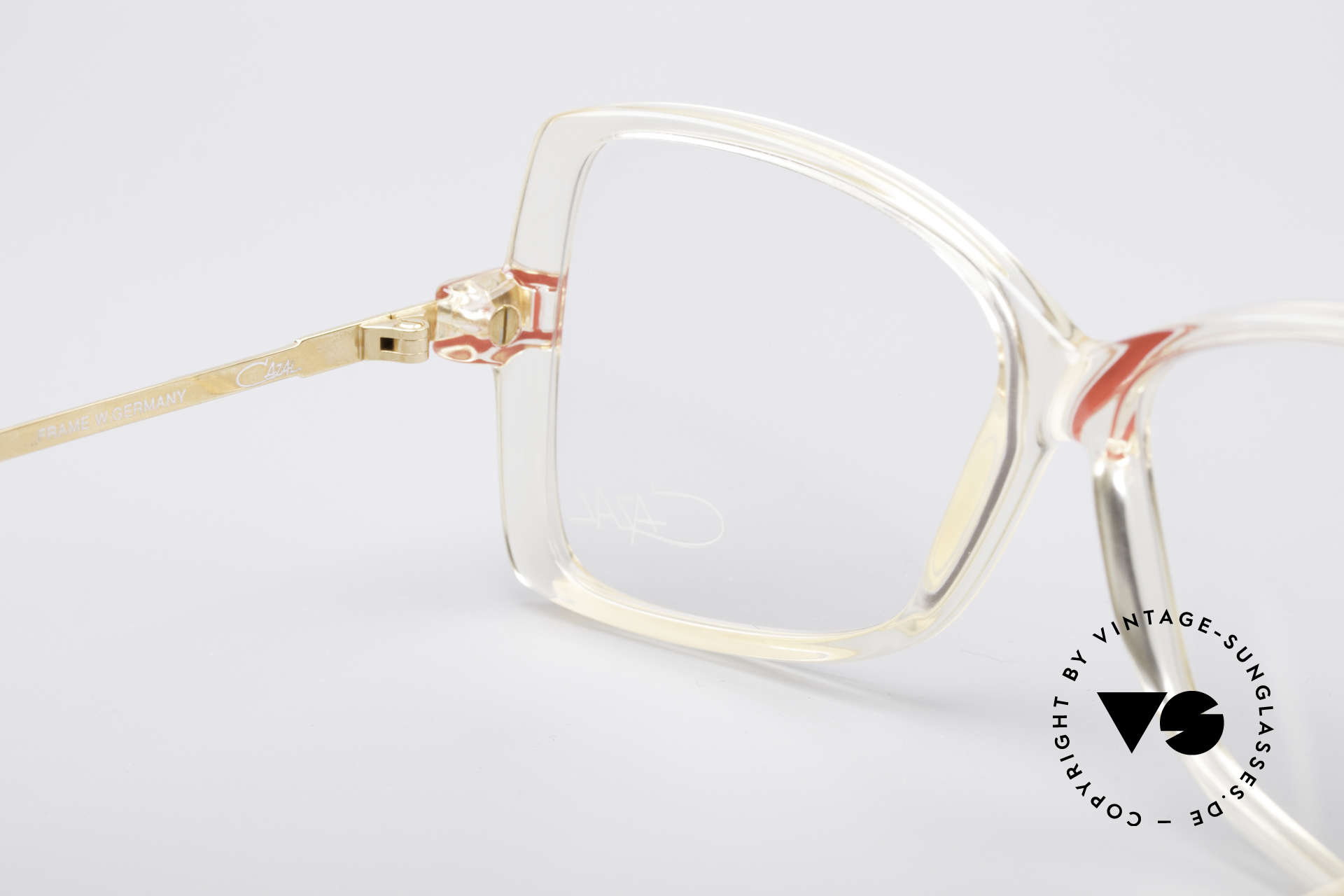 Cazal 175 Echt 80er Vintage Brille, orig. Demogläser können beliebig ersetzt werden, Passend für Damen