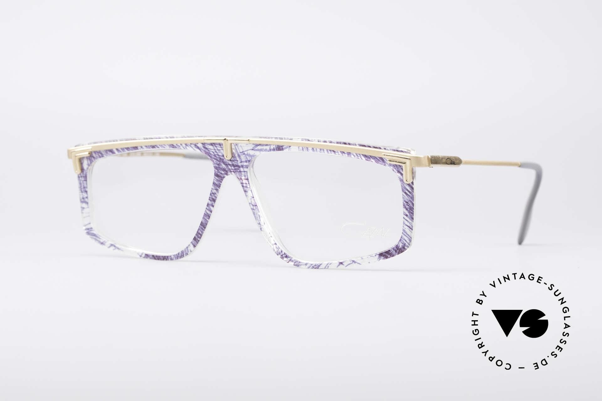Cazal 190 Old School Hip Hop Brille, legendäre Cazal vintage Brille aus den späten 80ern, Passend für Herren