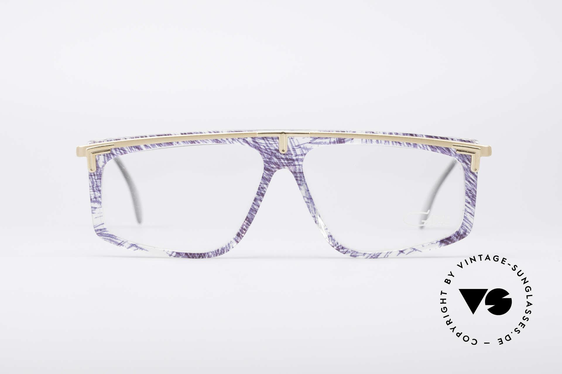Cazal 190 Old School Hip Hop Brille, ungewöhnliche Rahmengestaltung von CAri ZALloni, Passend für Herren