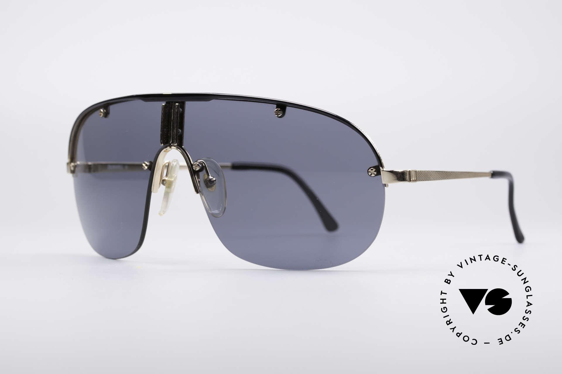 Dunhill 6102 90er Herren Sonnenbrille, genialer flexibler Rahmen für idealen Tragekomfort, Passend für Herren