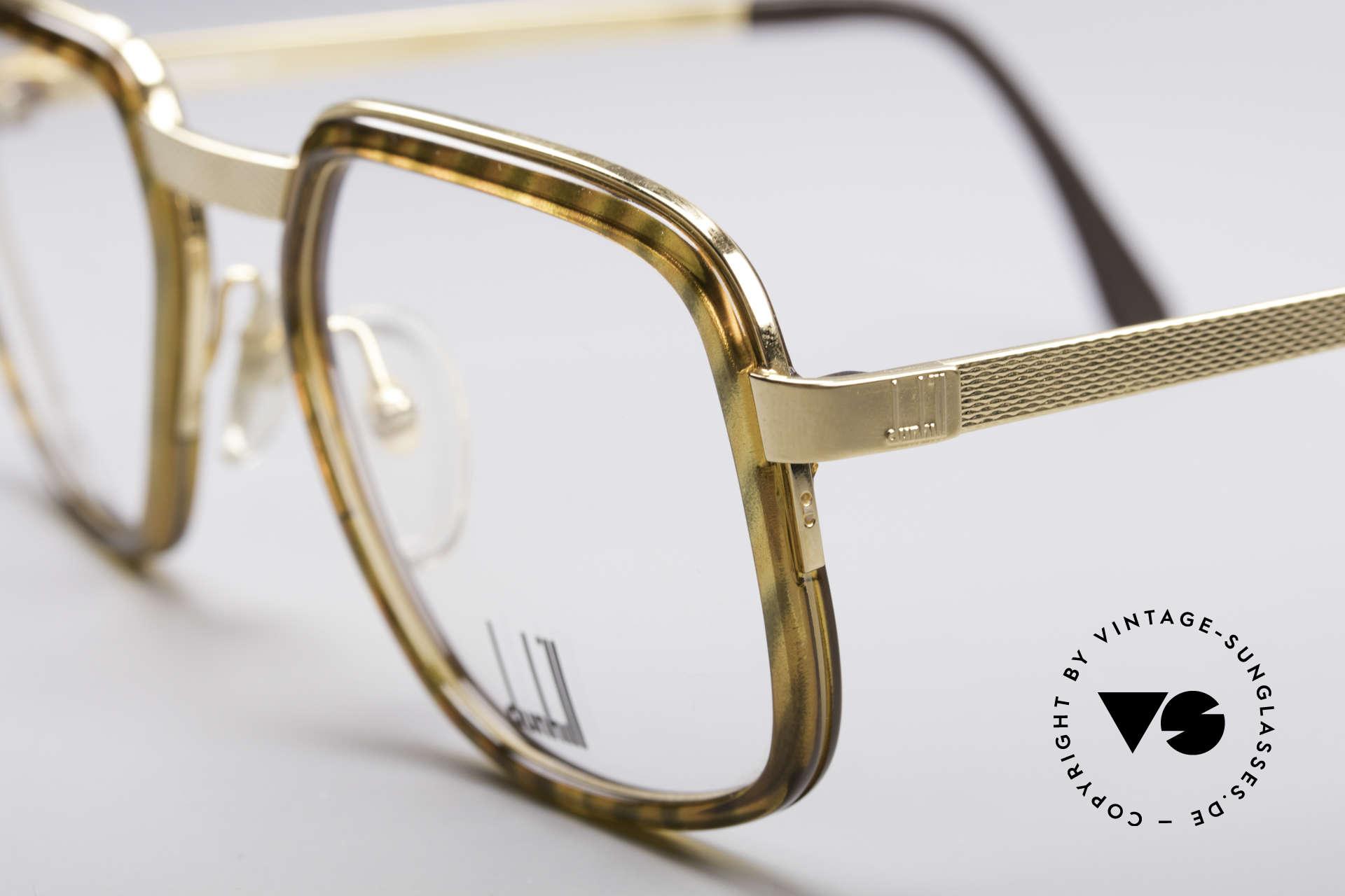 Dunhill 6073 Vergoldete 80er Brille, britische Eleganz & 'made in Germany' in Kombination, Passend für Herren