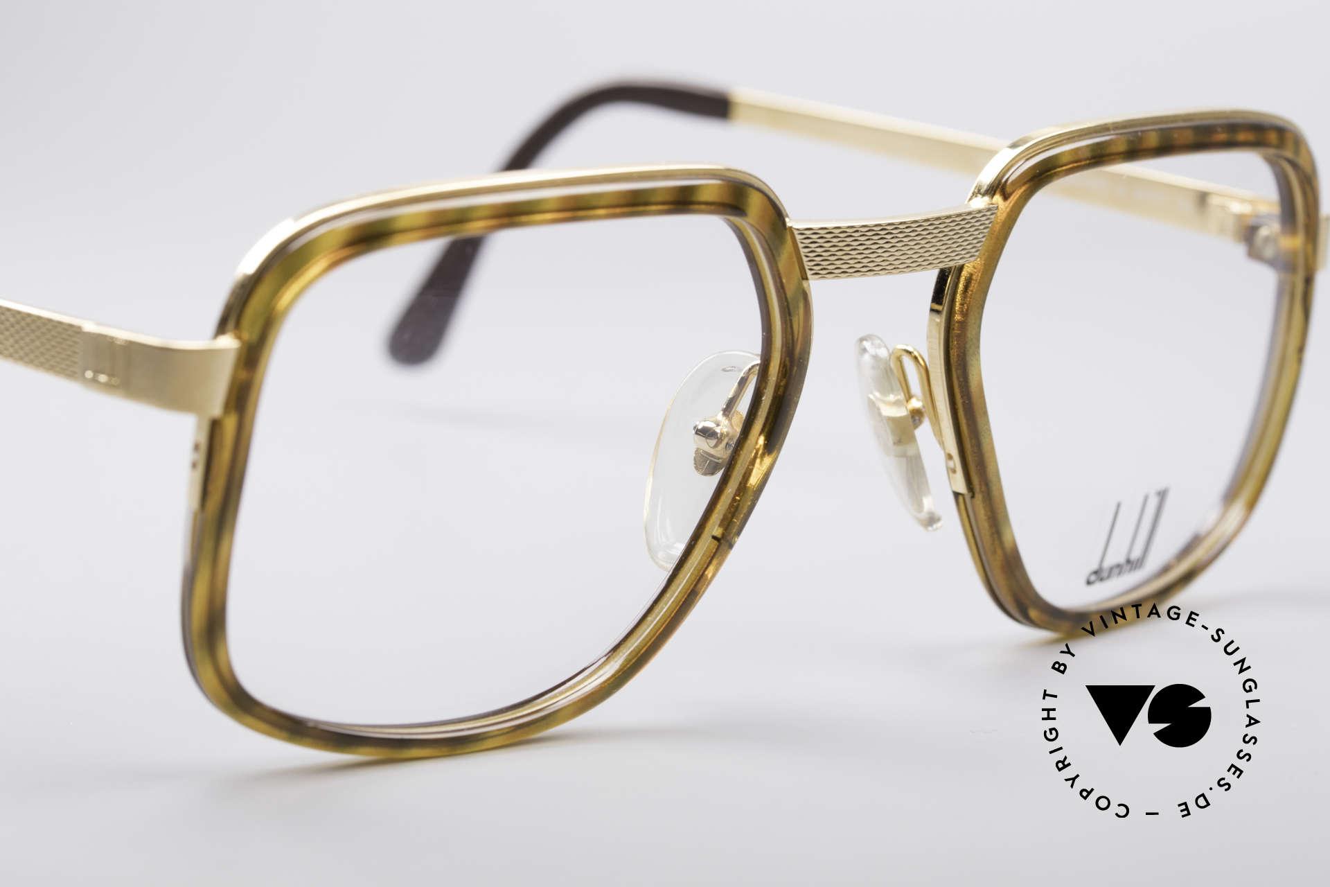 Dunhill 6073 Vergoldete 80er Brille, ungetragen (wie alle unsere A. Dunhill Herren-Brillen), Passend für Herren
