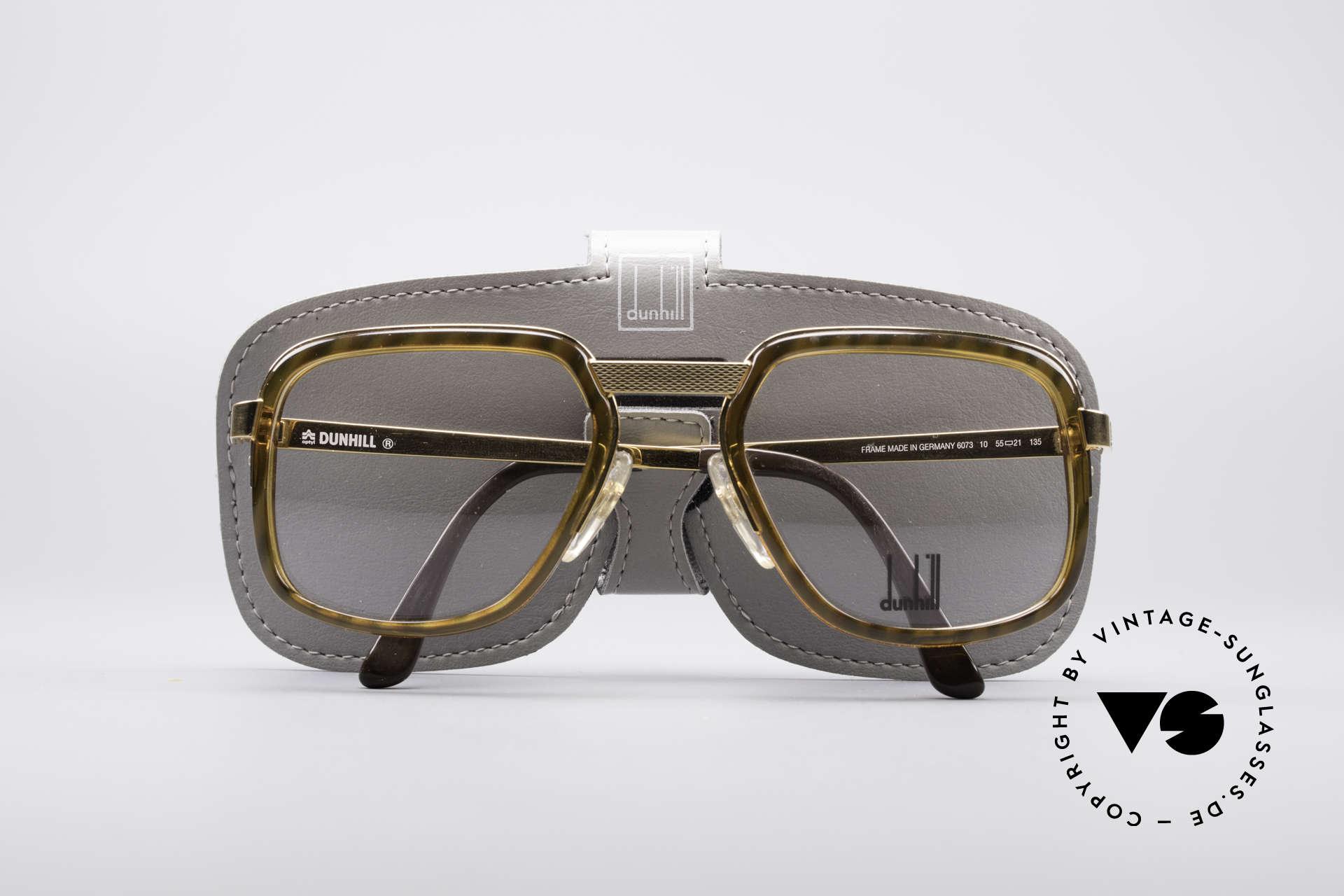Dunhill 6073 Vergoldete 80er Brille, KEINE RETROBRILLE, sondern ein altes 80er Original, Passend für Herren