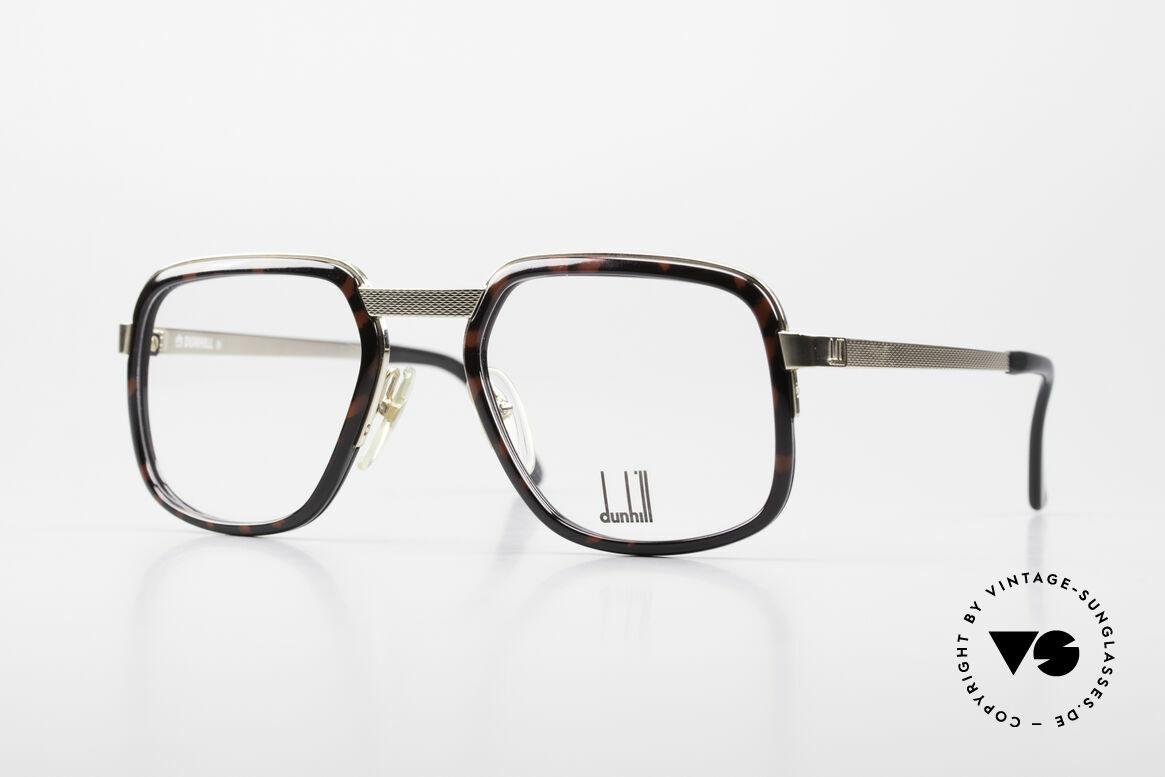 Dunhill 6073 Vergoldete 80er Herrenbrille, gewohnte Top-Qualität der englischen Noble-Marke, Passend für Herren