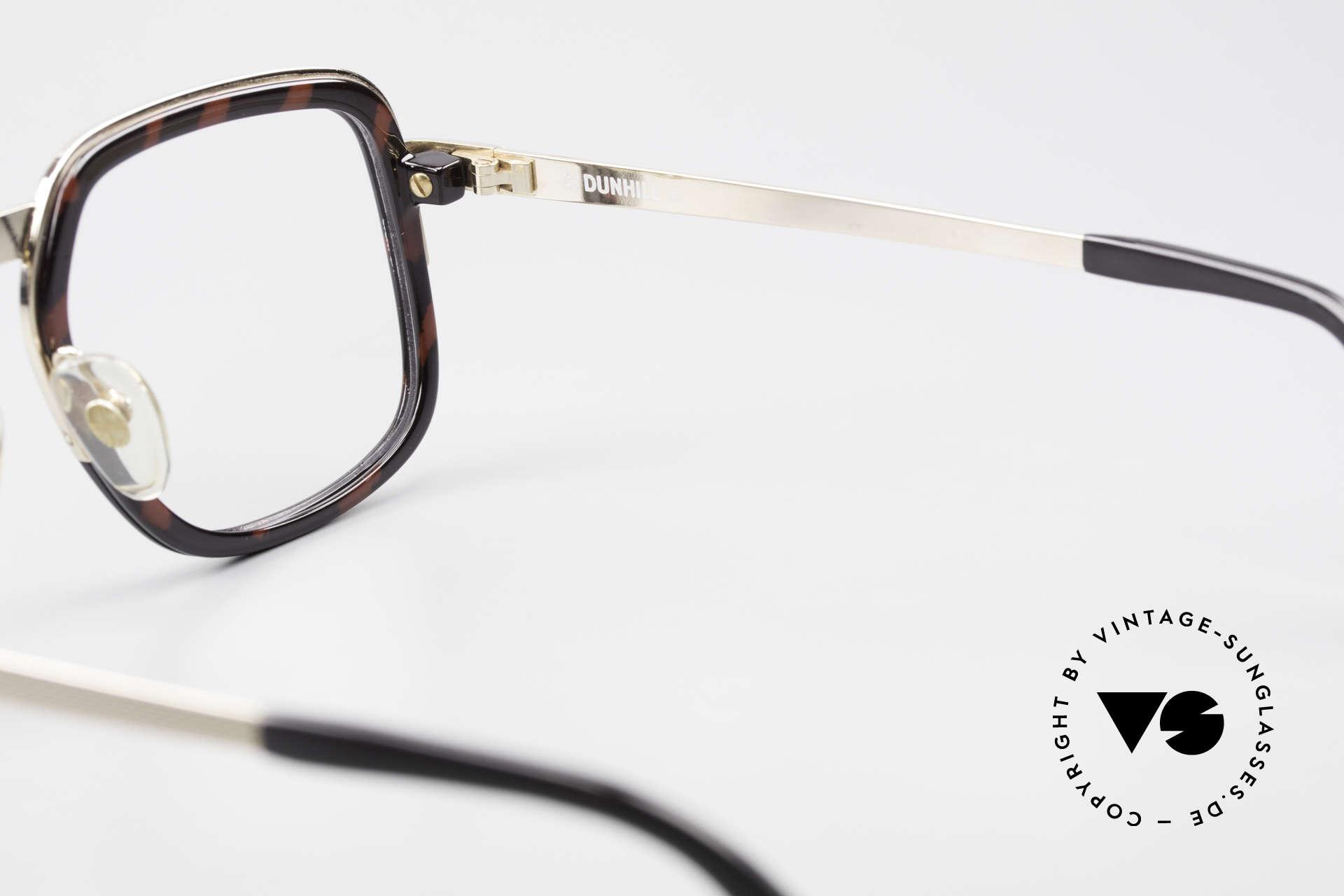 Dunhill 6073 Vergoldete 80er Herrenbrille, KEINE RETROBRILLE, sondern ein altes 80er Original, Passend für Herren