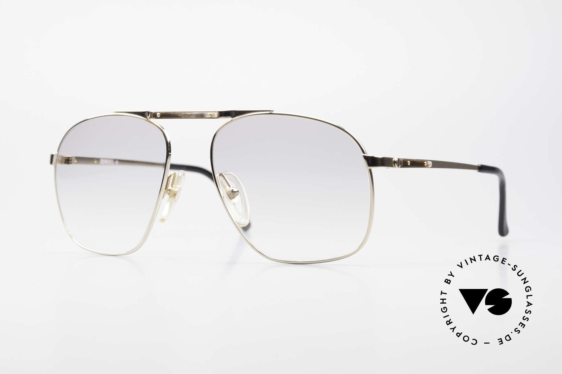 Dunhill 6046 80er Brille Horn-Applikationen, die 80er Jahre Dunhill Kollektion = ein Inbegriff von Stil, Passend für Herren