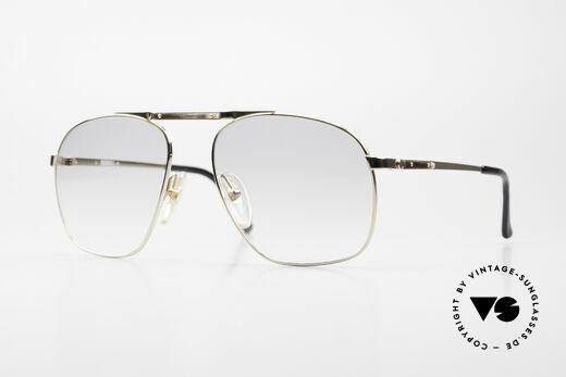 Dunhill 6046 80er Brille Horn-Applikationen Details