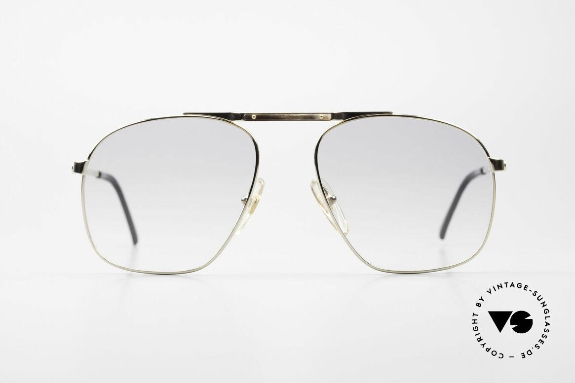 Dunhill 6046 80er Brille Horn-Applikationen, extrem elegante DUNHILL Herren-Sonnenbrille von 1987, Passend für Herren