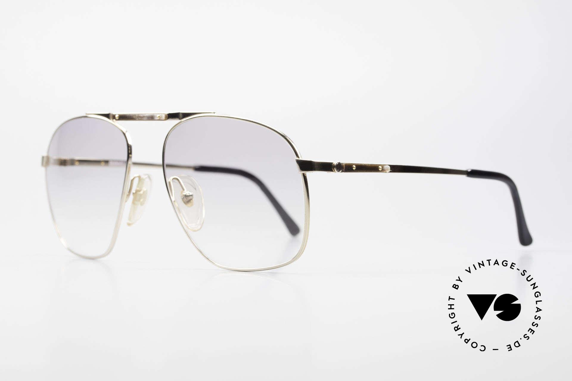 Dunhill 6046 80er Brille Horn-Applikationen, vergoldeter Rahmen mit dezenten HORN-Applikationen, Passend für Herren