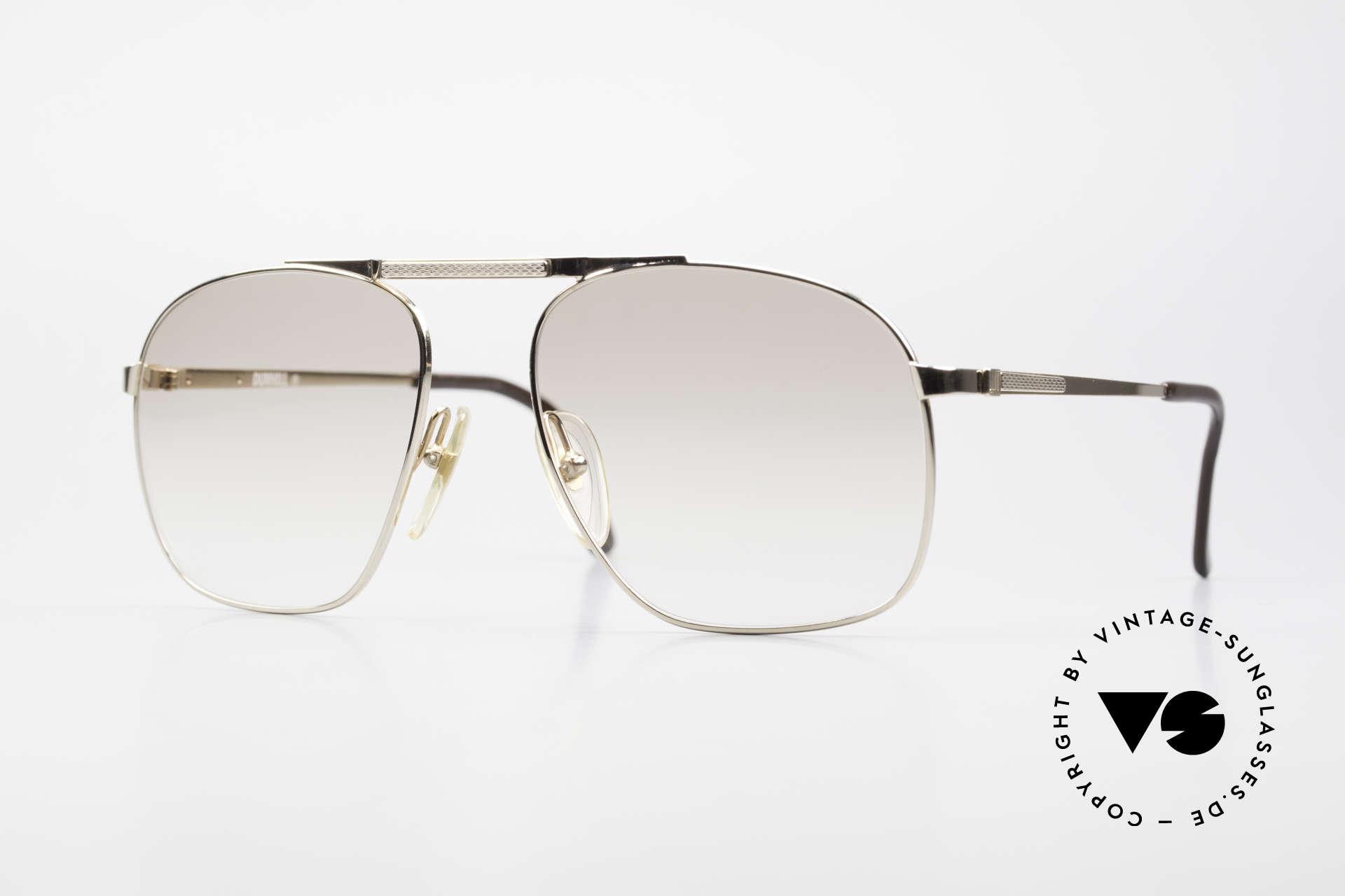 Dunhill 6046 80er Herrenbrille Vergoldet, die 80er Jahre Dunhill Kollektion = ein Inbegriff von Stil, Passend für Herren