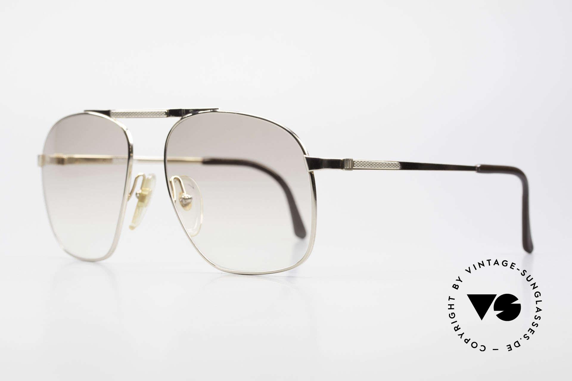 Dunhill 6046 80er Herrenbrille Vergoldet, vergoldeter Rahmen mit leicht getönten Sonnengläsern, Passend für Herren