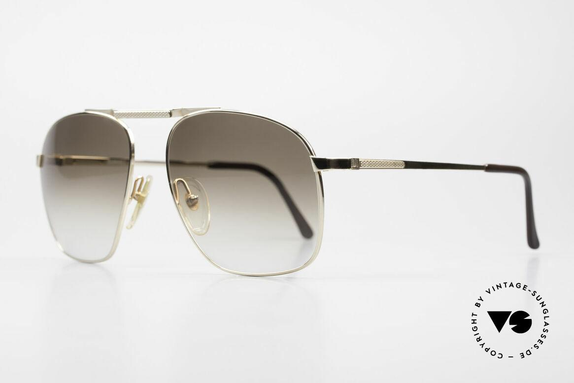 Dunhill 6046 Alte 80er Luxus Herrenbrille, vergoldeter Rahmen mit CR39 Gläsern in braun-Verlauf, Passend für Herren