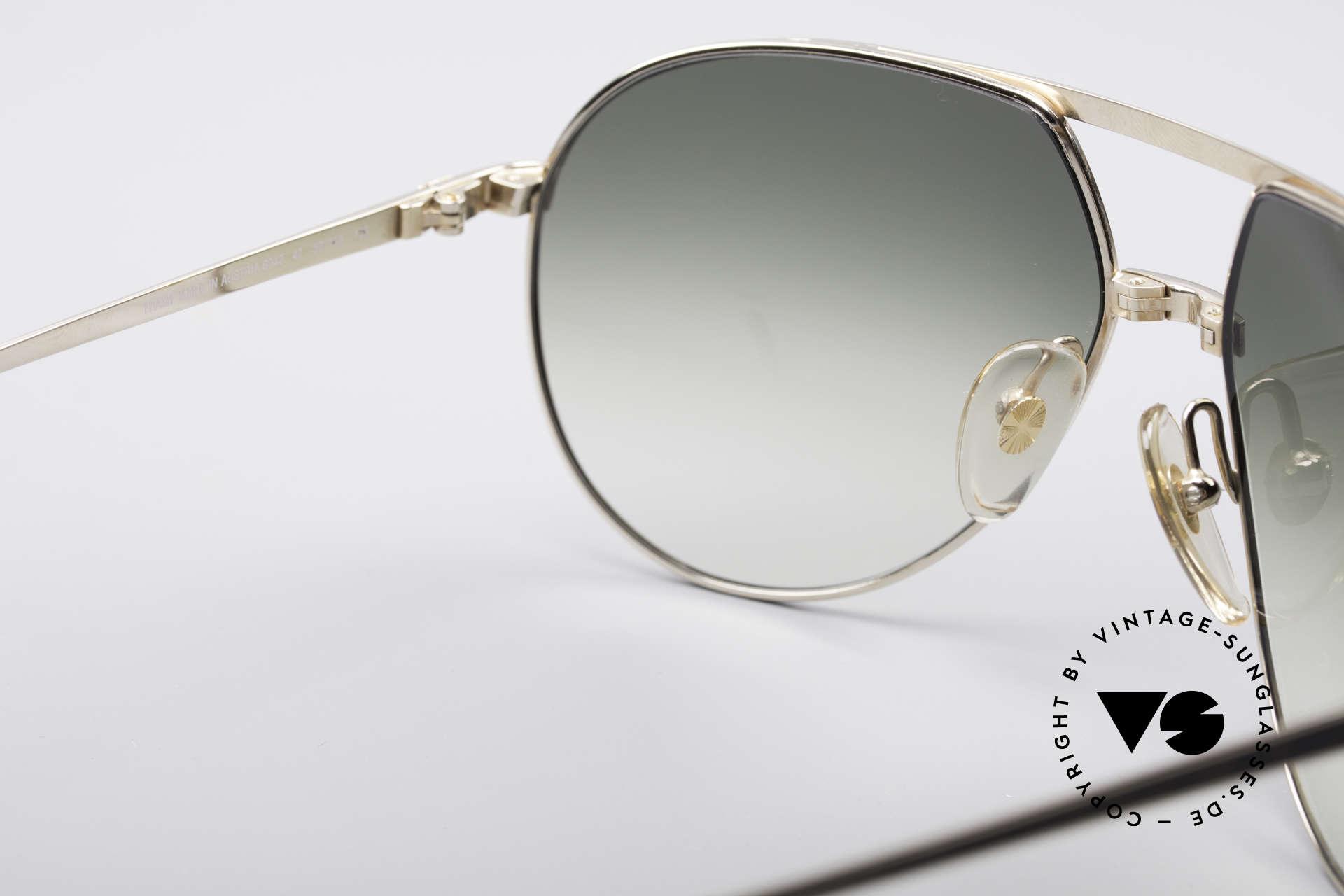 Dunhill 6042 80er Luxus Pilotenbrille Herren, ungetragen (wie alle unsere vintage A. DUNHILLS), Passend für Herren
