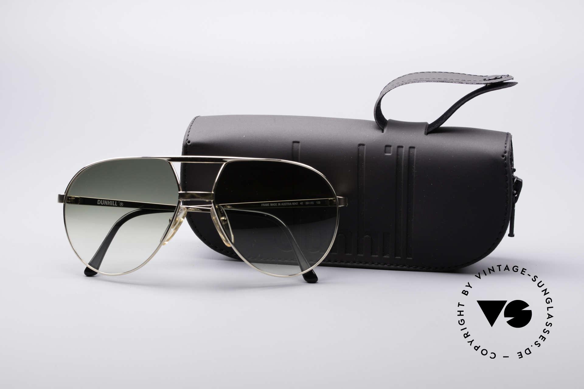 Dunhill 6042 80er Luxus Pilotenbrille Herren, KEINE retro Brille, sondern ein Original von 1987, Passend für Herren