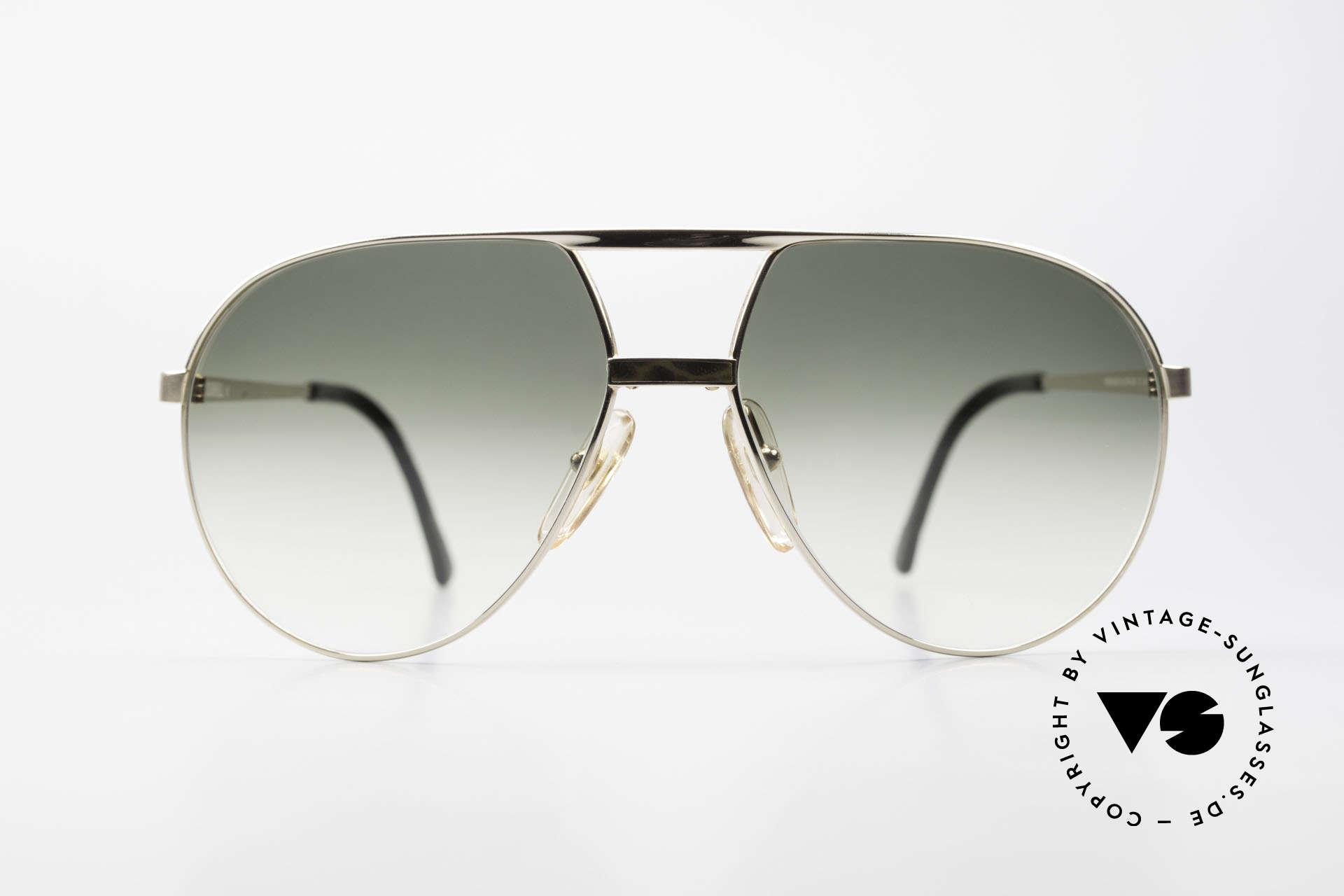 Dunhill 6042 80er Luxus Pilotenbrille Herren, edle 80er Jahre DUNHILL Designer-Sonnenbrille, Passend für Herren