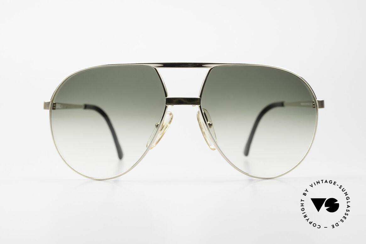 Dunhill 6042 80er Luxus Pilotenbrille Herren, hartvergoldete Fassung mit grauem China-Lack, Passend für Herren