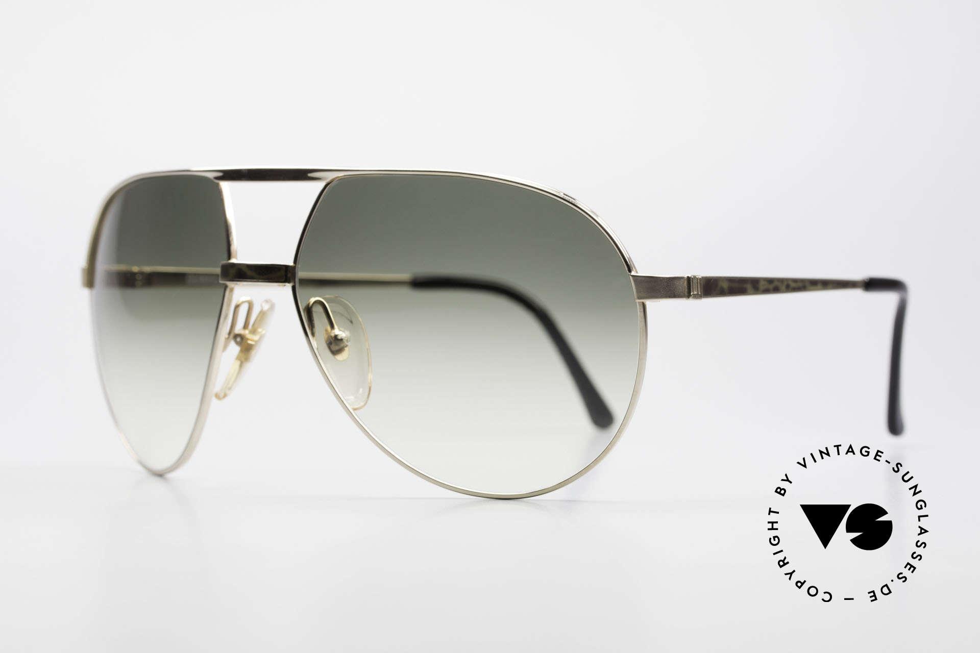 Dunhill 6042 80er Luxus Pilotenbrille Herren, unglaubliche Qualität & Verarbeitung (100% UV), Passend für Herren