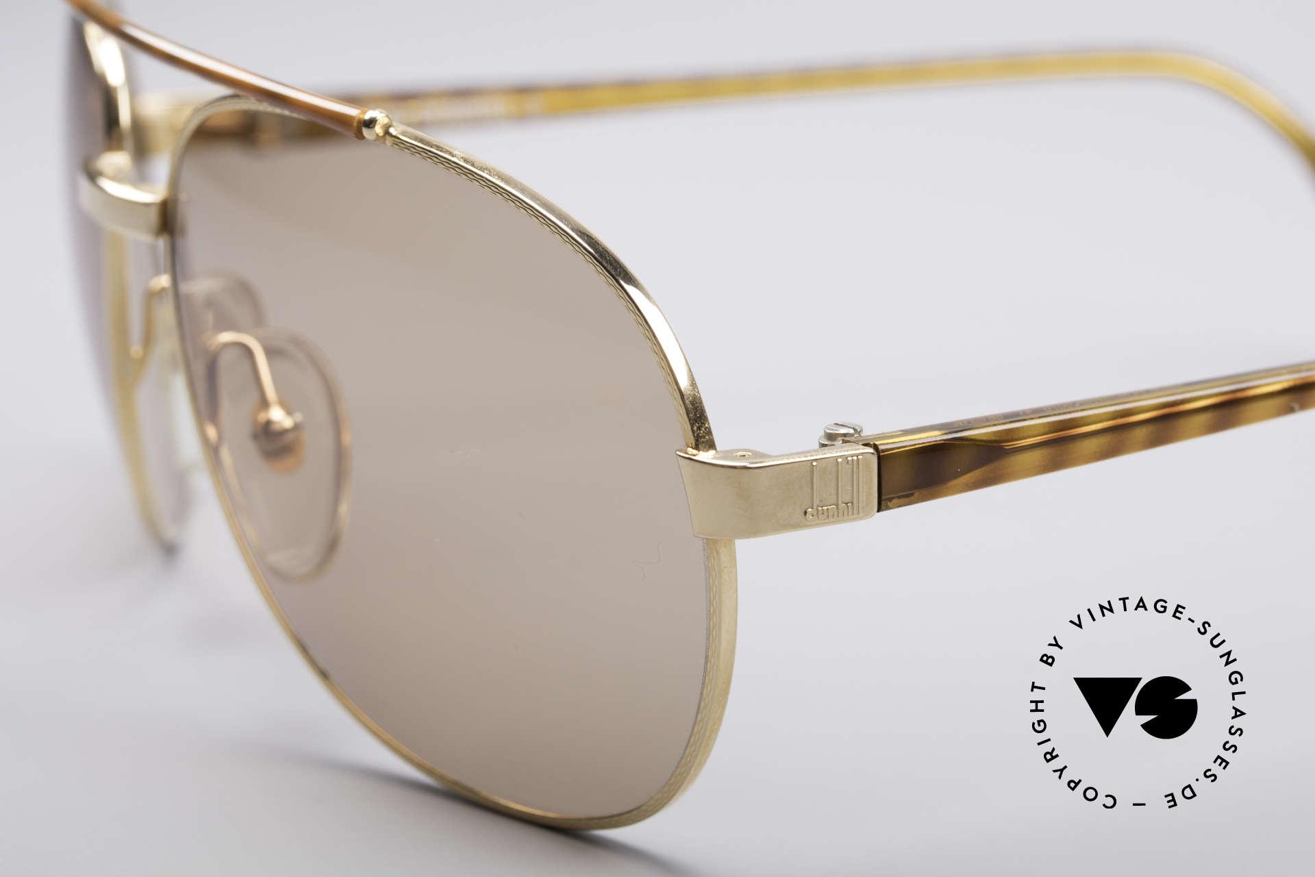 Dunhill 6070 90er Luxus Sonnenbrille Herren, dezent, elegante Applikationen in schildpatt, Passend für Herren