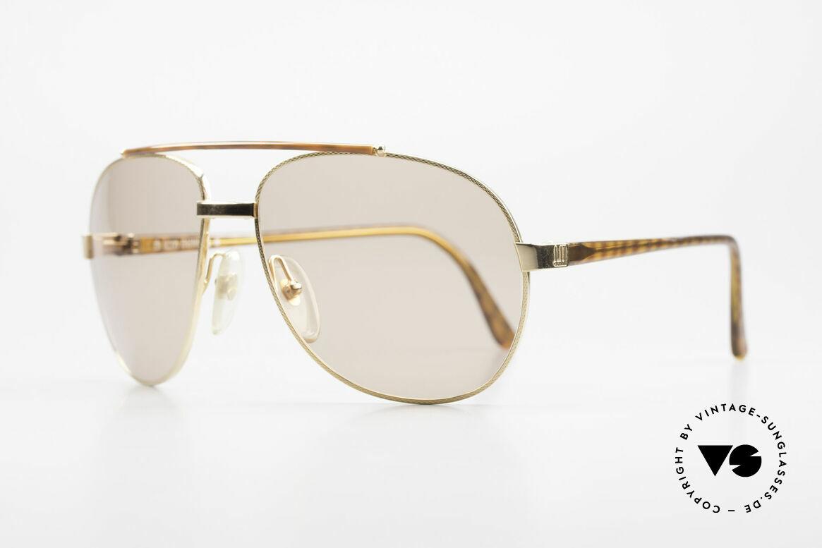 Dunhill 6070 90er Luxus Sonnenbrille Herren, hartvergoldete, flexible Fassung (Comfort-Fit), Passend für Herren