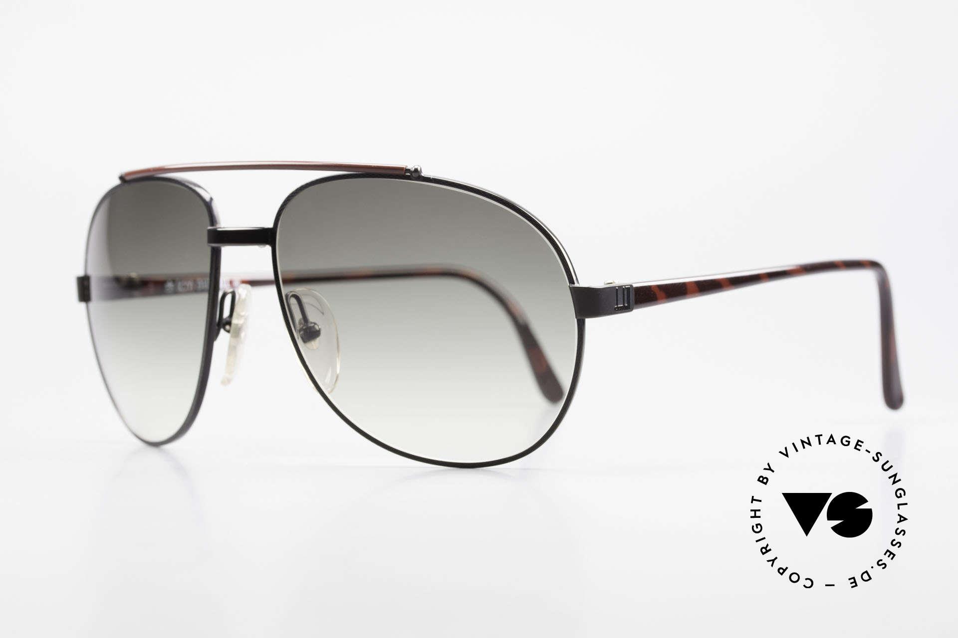 Dunhill 6070 90er Luxus Herren Sonnenbrille, schwarz-verchromt mit bordeaux-schildpatt, Passend für Herren