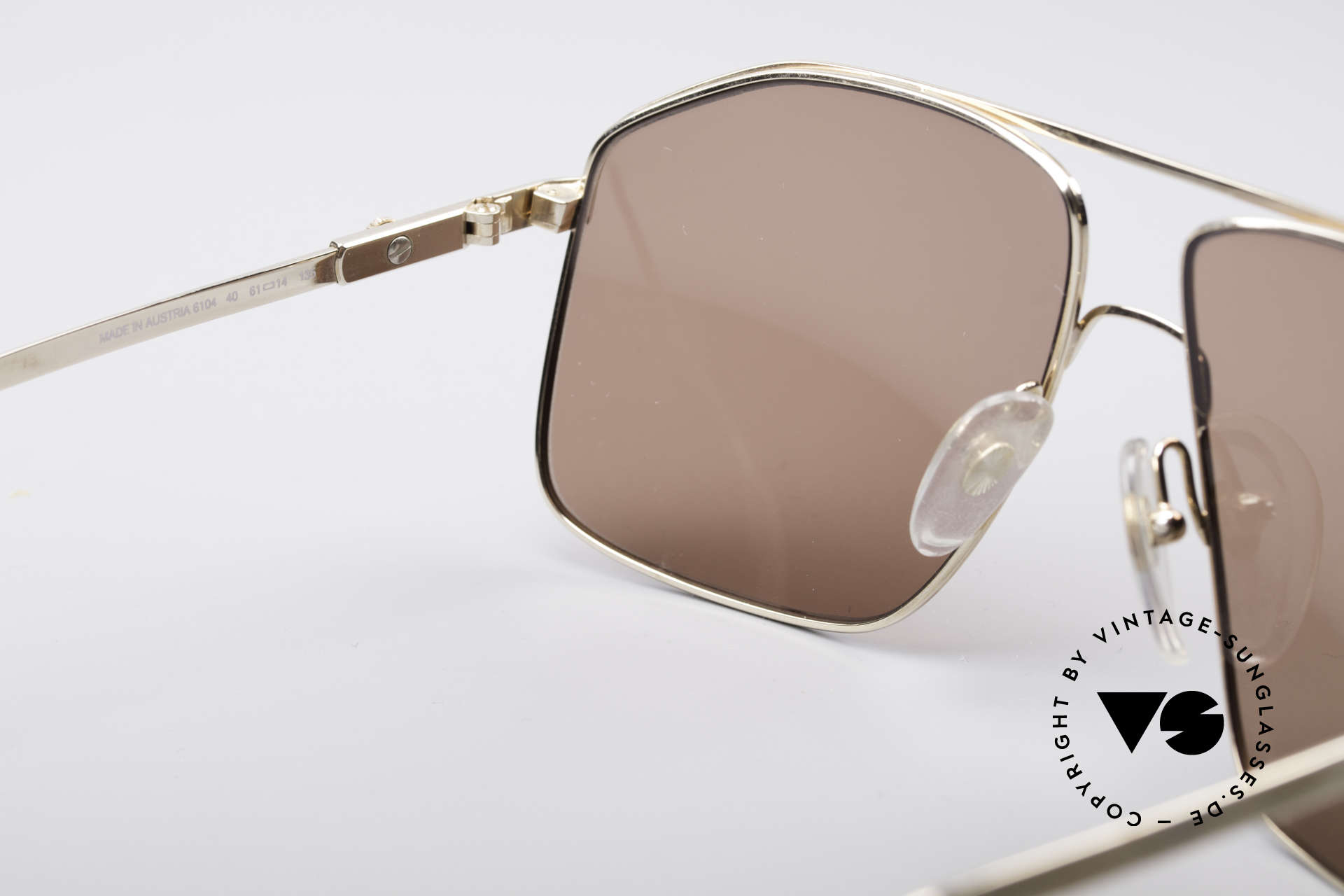 Dunhill 6104 Vergoldete Vintage Brille 90er, KEINE Retrosonnenbrille, 100% vintage Original!!, Passend für Herren