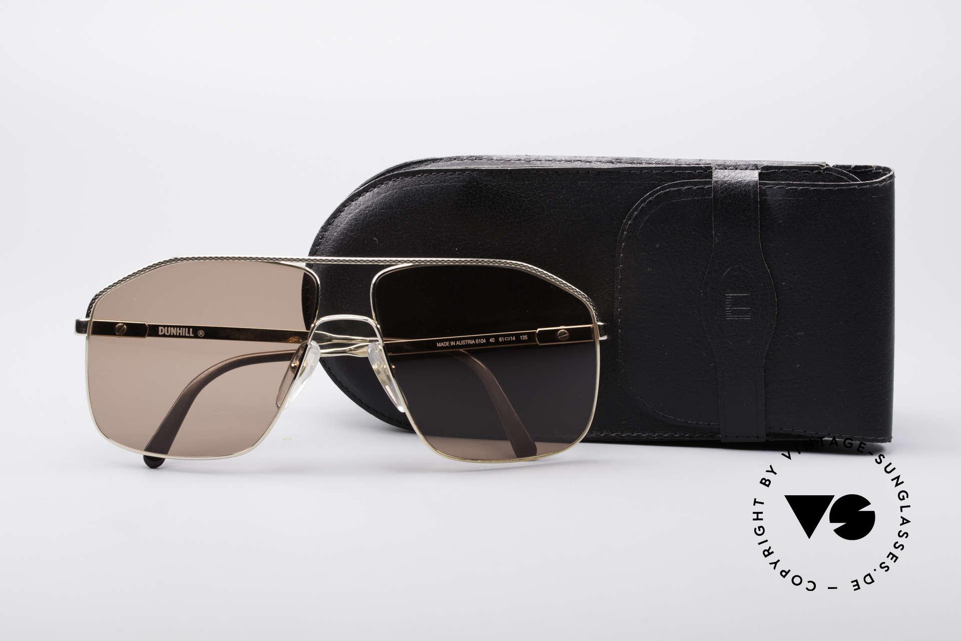 Dunhill 6104 Vergoldete Vintage Brille 90er, Größe: large, Passend für Herren