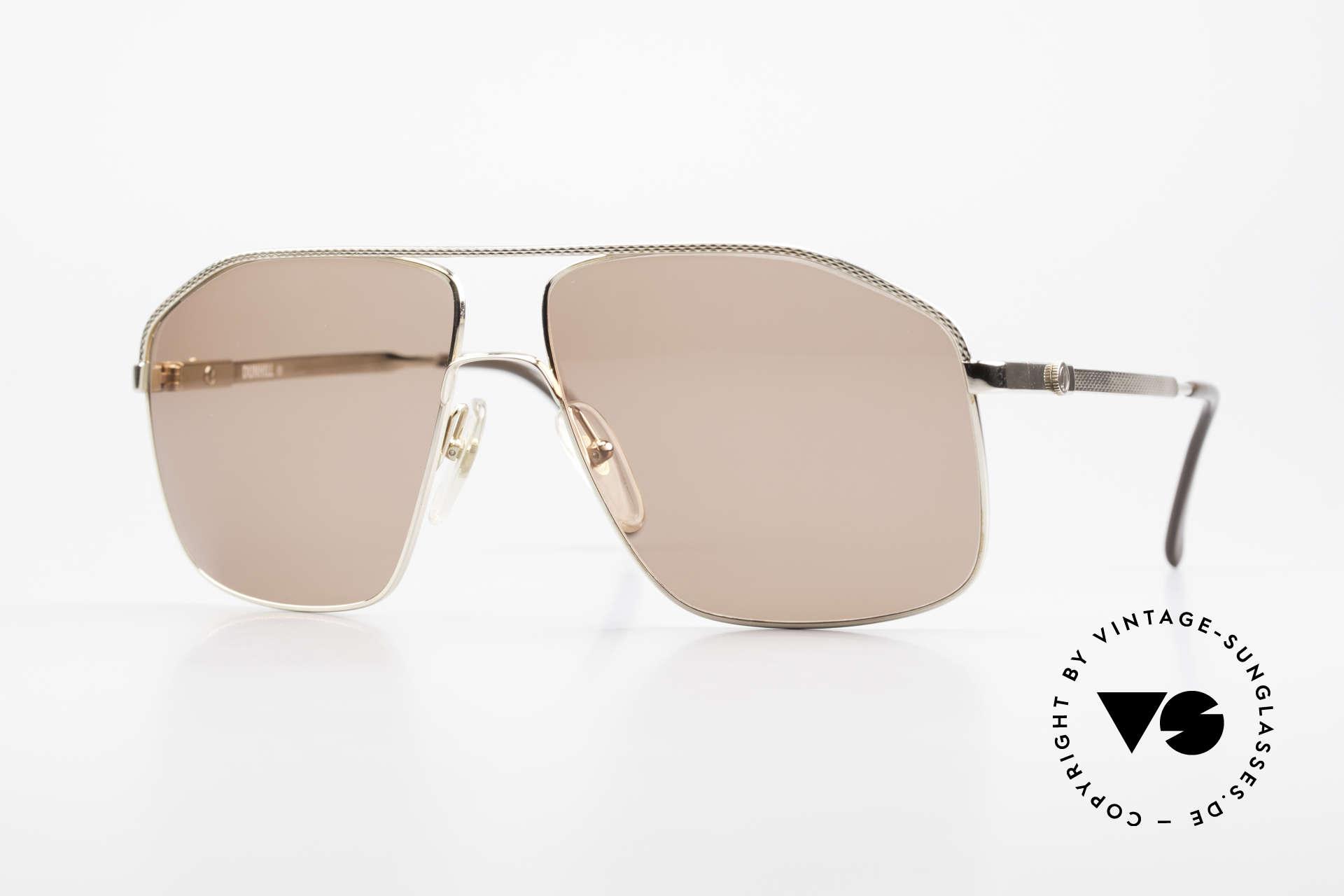 Dunhill 6104 Vergoldete Vintage Brille 90er, extrem aufwendige Metallarbeiten an der Fassung, Passend für Herren