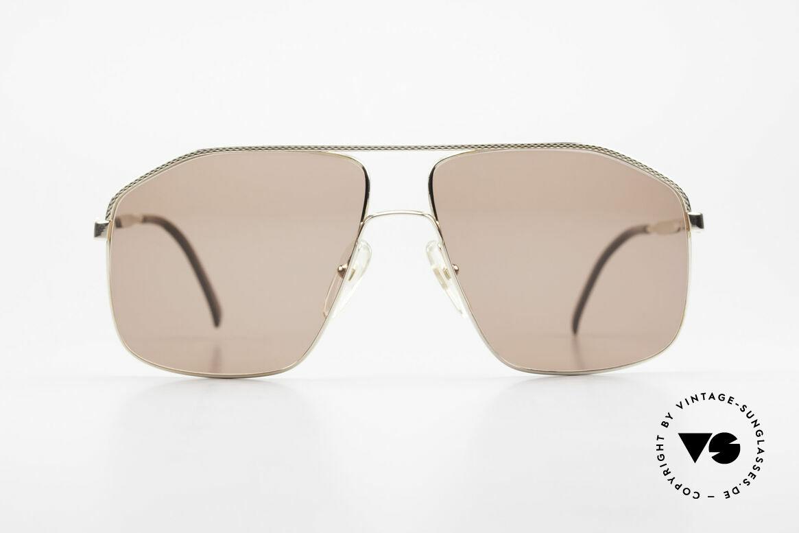Dunhill 6104 Vergoldete Vintage Brille 90er, herausragende A. Dunhill Sonnenbrille von 1991, Passend für Herren