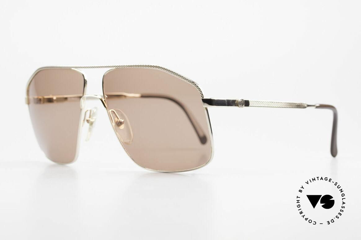 Dunhill 6104 Vergoldete Vintage Brille 90er, hunderte winzige Facetten für sanften Gold-Glanz, Passend für Herren