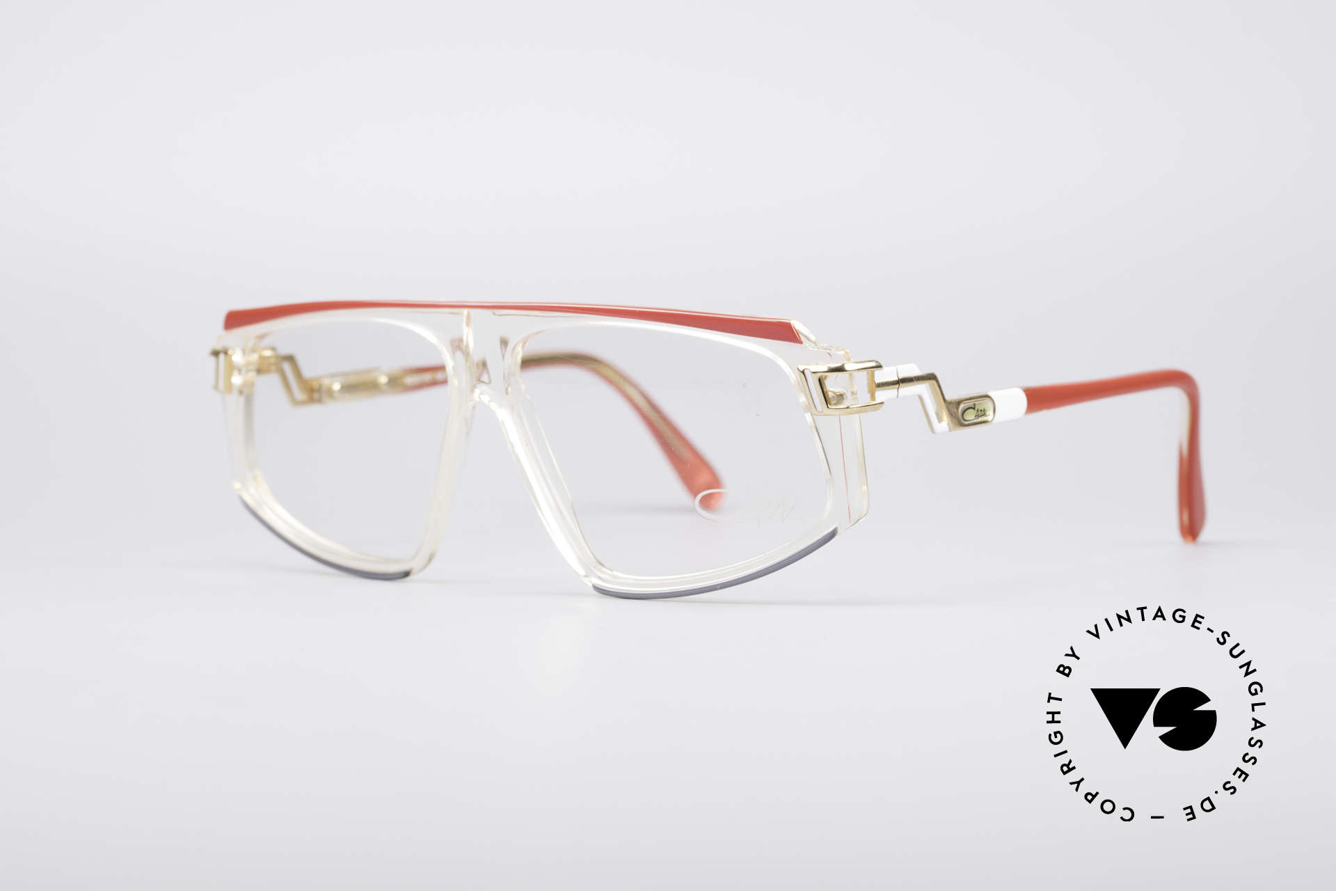Cazal 170 Echt Vintage No Retrobrille, außergewöhnliche Form- und Farbgestaltung, Passend für Damen