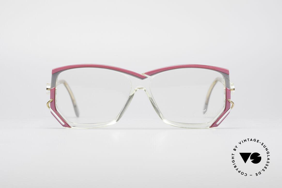 Cazal 197 80er Vintage Designerbrille, transparenter Rahmen mit tollen Farbkompositionen, Passend für Damen