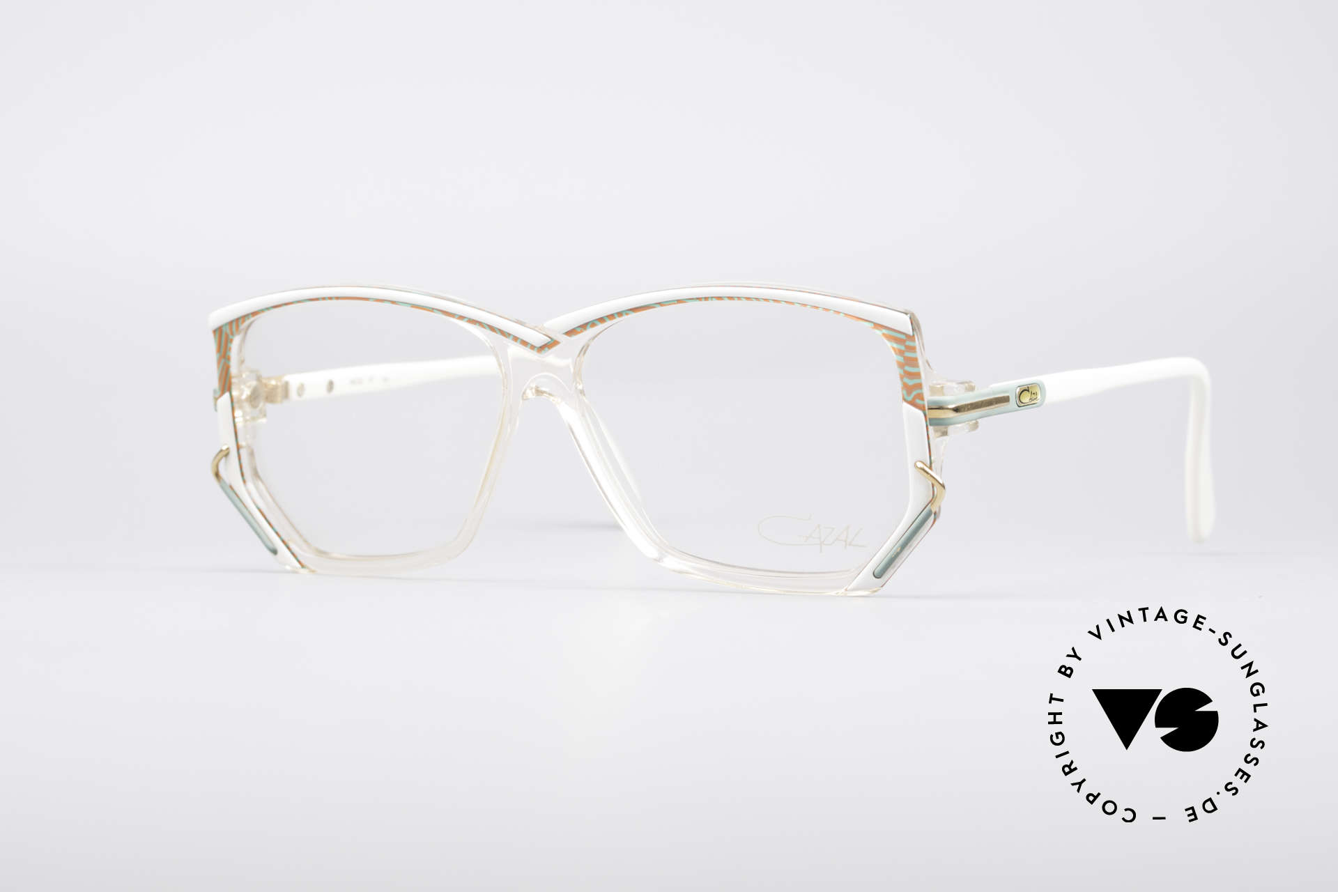 Cazal 197 80er Vintage Designerbrille, vintage CAZAL Designer-Brillenfassung von 1988/89, Passend für Damen