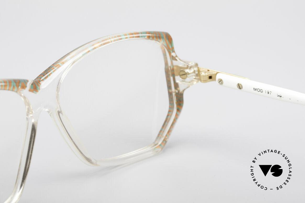 Cazal 197 80er Vintage Designerbrille, Aufdrucke durch's Putzen abgerieben, daher reduziert, Passend für Damen
