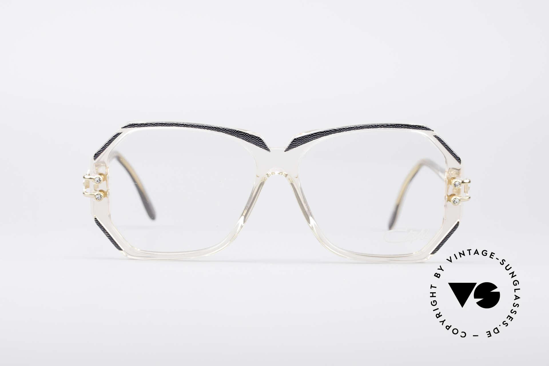 Cazal 169 Vintage Designer Brille, 1989/90 (Frame Germany) gefertigt, MEDIUM Gr. 56-14, Passend für Damen