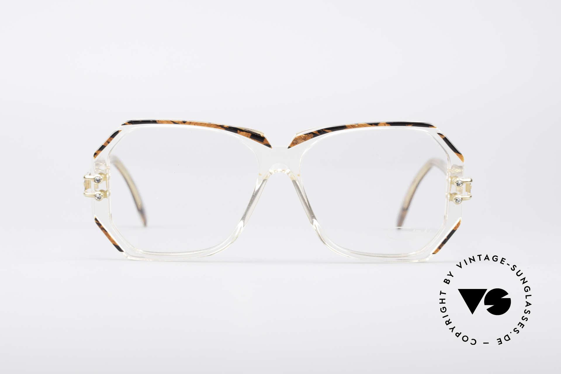 Cazal 169 Vintage Designer Brille, 1989/90 (Frame W.Germany) gefertigt, MEDIUM Gr. 56-14, Passend für Damen