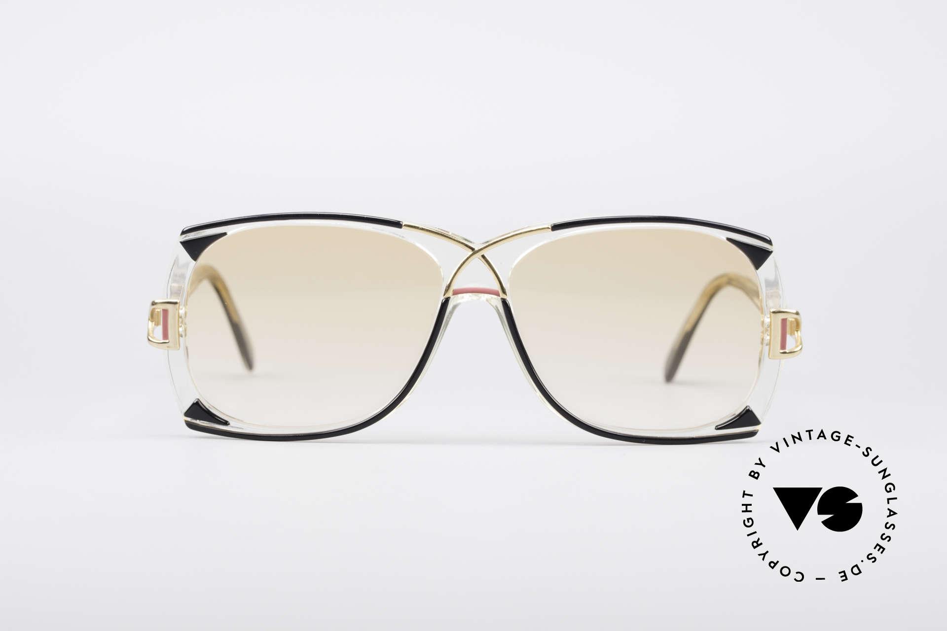 Cazal 193 Original 80er Sonnenbrille, schwungvolle Kreation vom genialen CAri ZALloni, Passend für Damen
