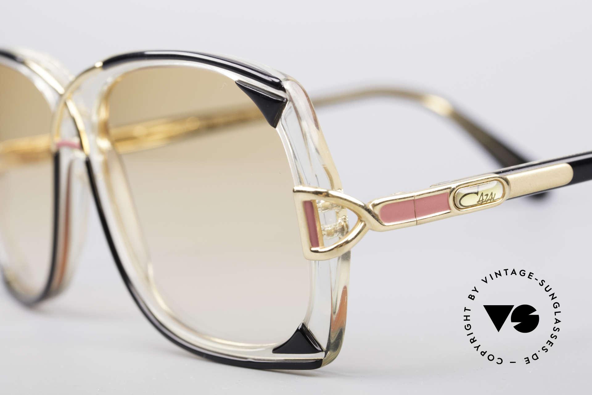 Cazal 193 Original 80er Sonnenbrille, leicht orange getönte Gläser (auch abends tragbar), Passend für Damen