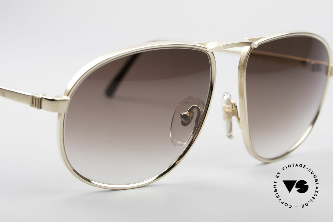 Dunhill 6051 80er Titanium Luxus Brille, distinguiert kultiviert: ein wahres Gentleman Modell, Passend für Herren