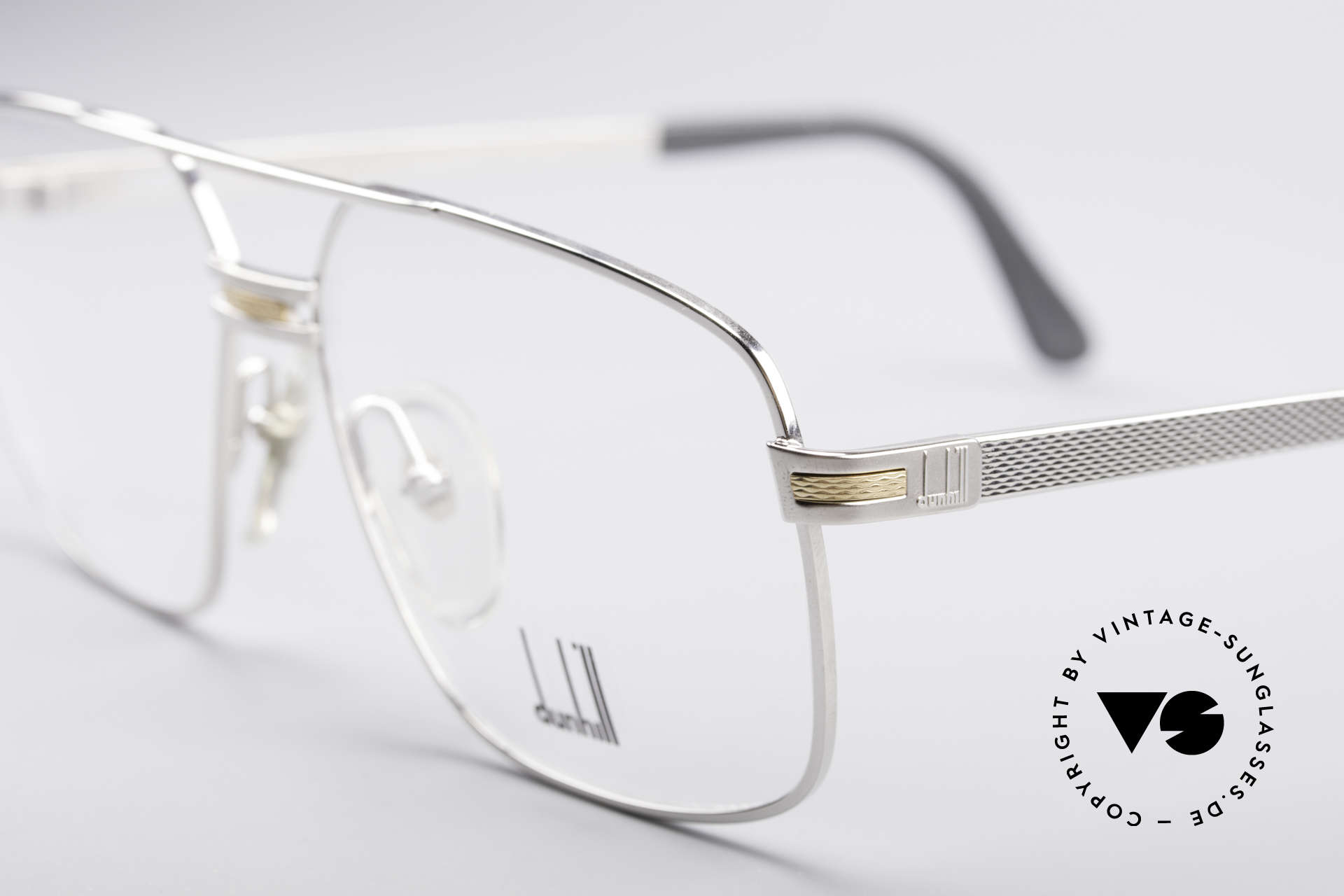 Dunhill 6134 Platinierte Luxus Brille, enorm aufwendiges/teures Produktionsverfahren, Passend für Herren