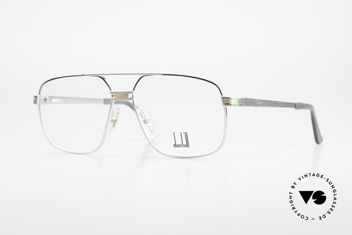 Dunhill 6134 Platinierte Luxus Brille 90er, platinierter Rahmen mit hartvergoldetem Dekor, Passend für Herren