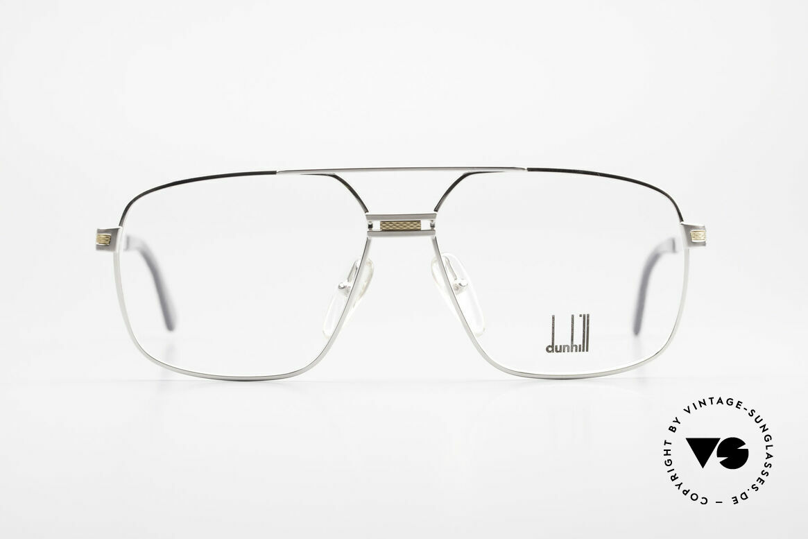Dunhill 6134 Platinierte Luxus Brille 90er, 90er Jahre Luxus Brillenfassung von A. Dunhill, Passend für Herren