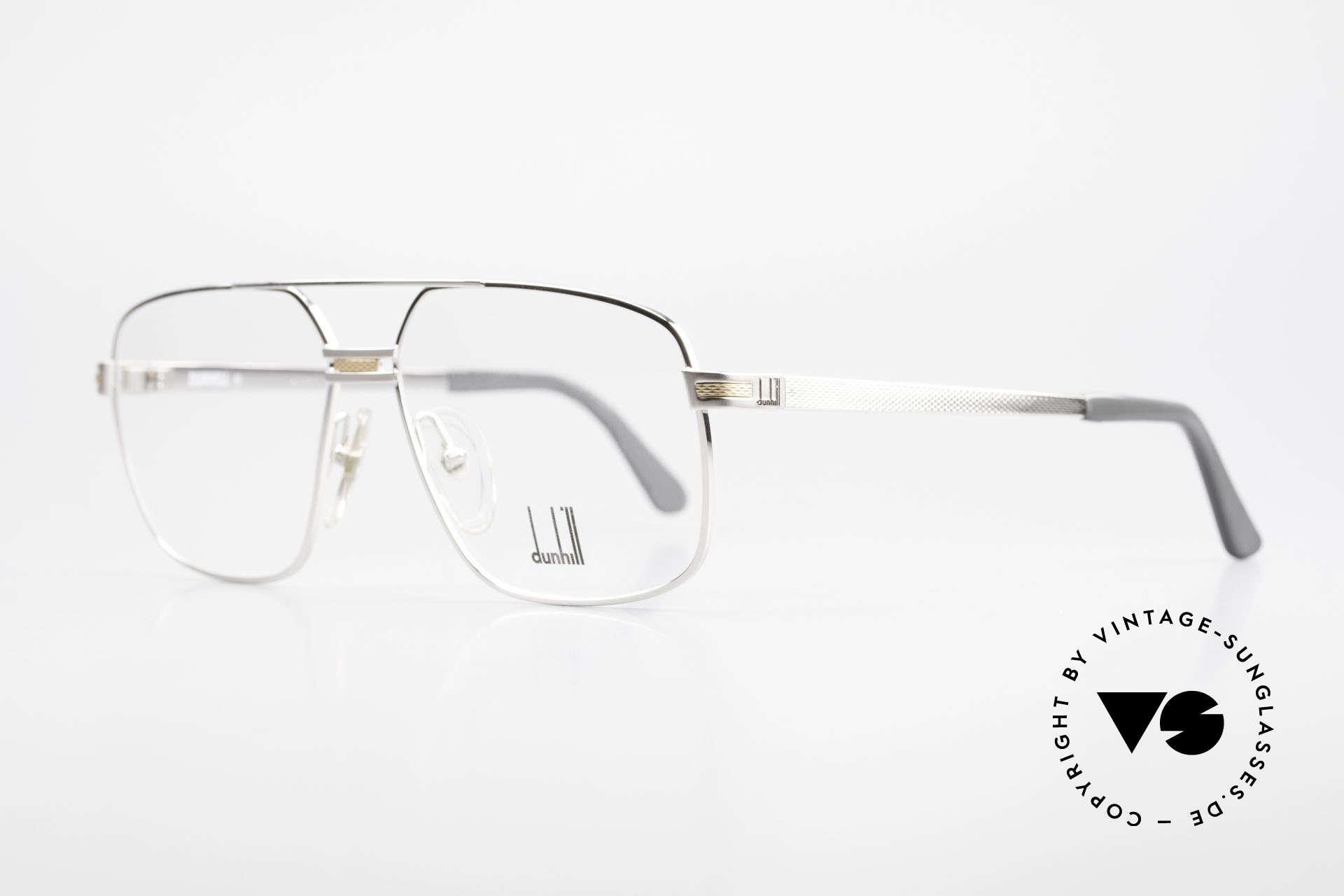 Dunhill 6134 Platinierte Luxus Brille 90er, sanfter Glanz durch hunderte winziger Facetten, Passend für Herren
