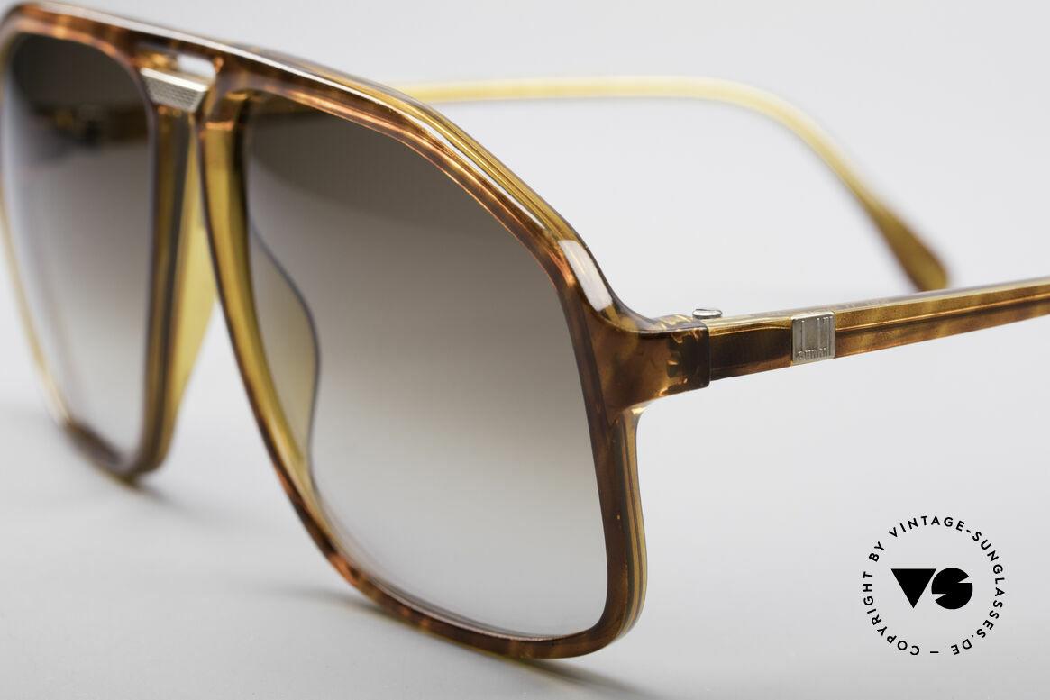 Dunhill 6097 90er Herren Sonnenbrille M, edler Schildpatt-Farbton mit braunen Verlaufsgläsern, Passend für Herren
