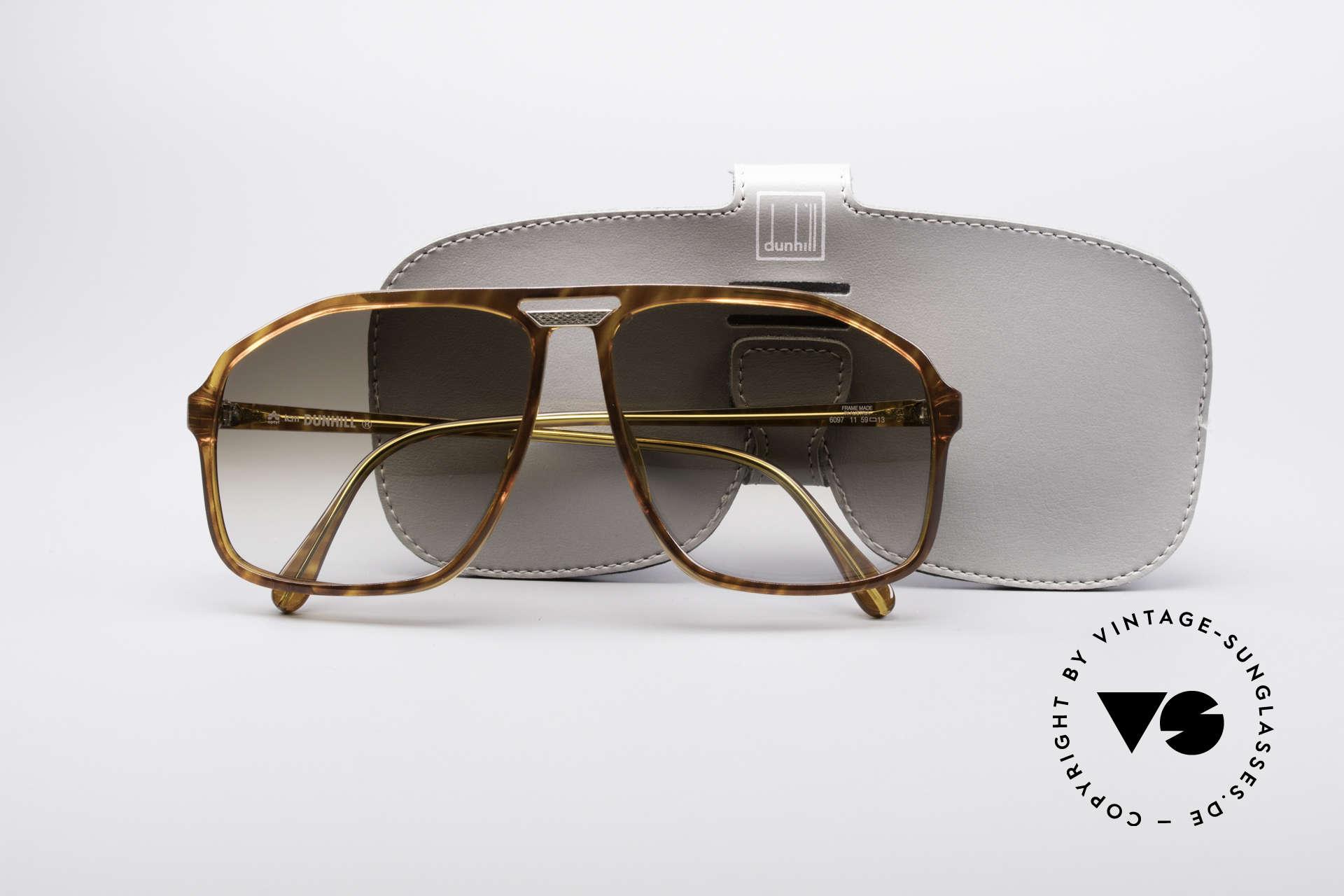 Dunhill 6097 90er Herren Sonnenbrille M, KEINE Retrobrille, ein ORIGINAL in MEDIUM Gr. 59-13, Passend für Herren