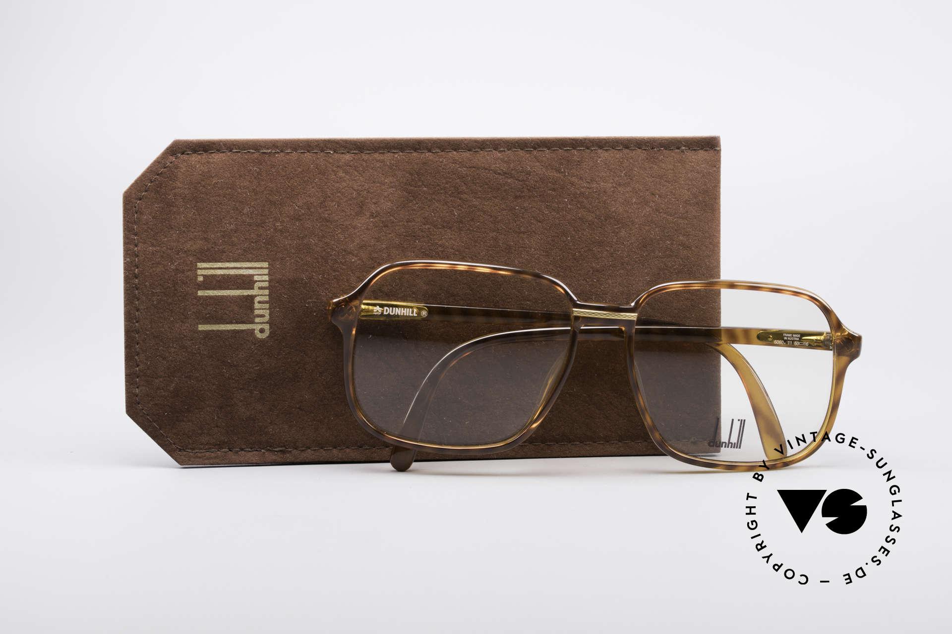 Dunhill 6060 Klassische 80er Brille Vintage, KEINE Retrobrille, sondern ein 30 Jahre altes Unikat!, Passend für Herren