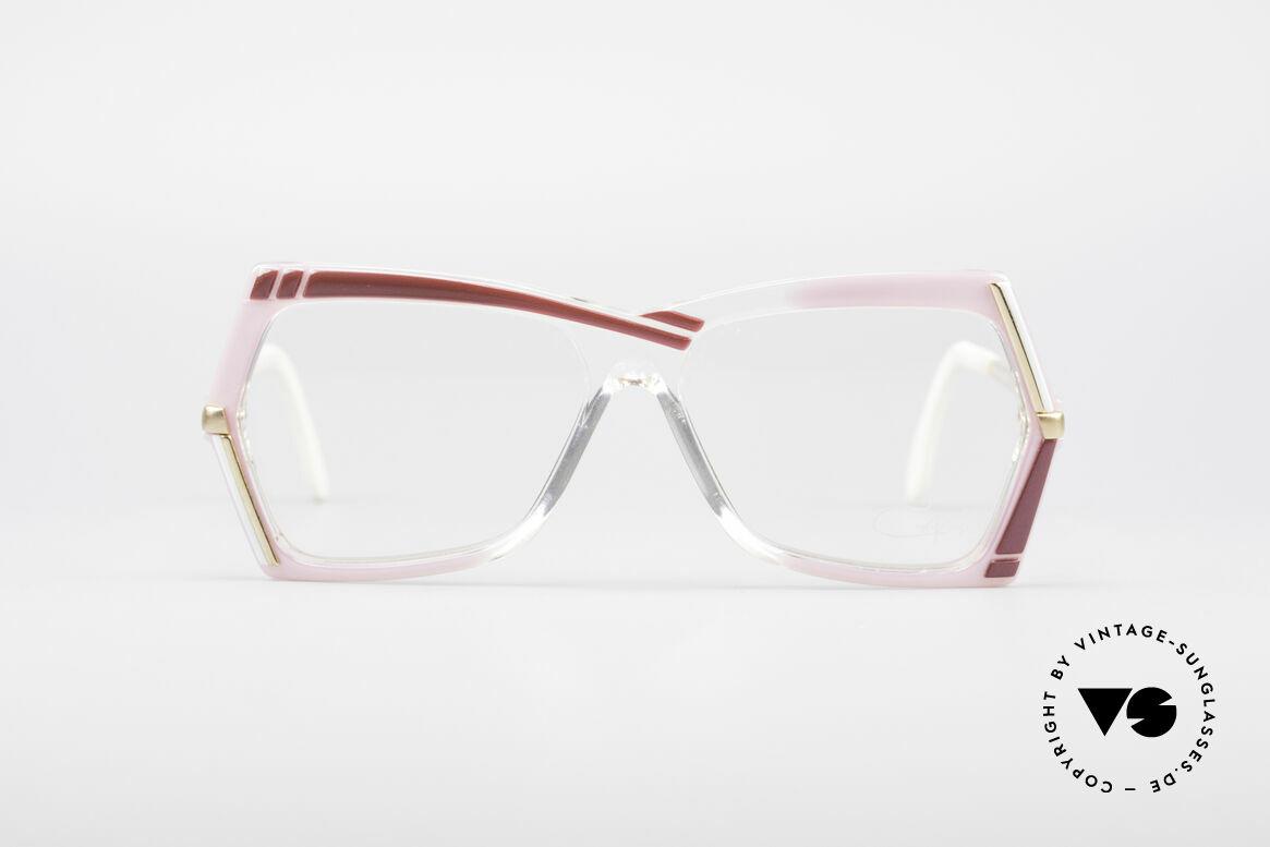 Cazal 183 80er Brille No Retrobrille, pinker Farbton typisch für die damalige Cazal-Zeit, Passend für Damen