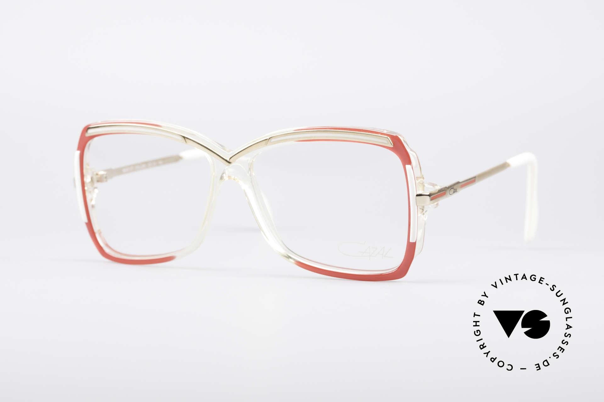Cazal 177 80er Designerbrille, zauberhafte 80er CAZAL Designer-Brillenfassung, Passend für Damen