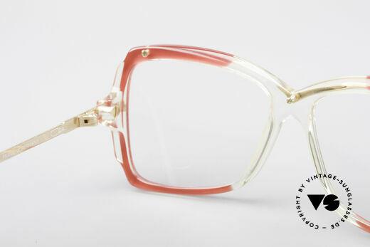 Cazal 177 80er Designerbrille, die Demogläser können beliebig getauscht werden, Passend für Damen